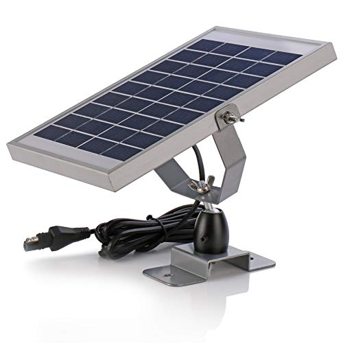 SUNER POWER 6V Waterproof Solar Battery Trickle Charger & Maintainer - 5 Watts Solar Panel with Built-in Intelligent MPPT Solar Charge Controller + Adjustable Mount Bracket + SAE Connection Cable Kits