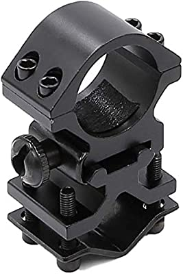 US 25mm Ring Flashlight Holder Scope Laser Support Stand Barrel Rail Mount Tool