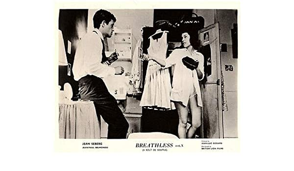 Amazon Com Breathless Original Lobby Card Jean Paul Belmondo Jean Seberg A Bout De Souffle Posters Prints