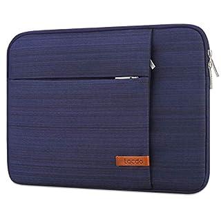 "Lacdo 15.6 Inch Laptop Sleeve Case Computer Bag for 15.6"" Acer Aspire/Predator, Inspiron, ASUS ZenBook Pro 15 VivoBook, HP Pavilion, Lenovo IdeaPad 330, ThinkPad E590, Chromebook Water Resistant, Blue"