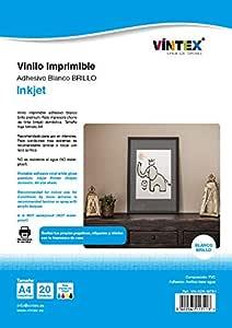 Vinilo Adhesivo Imprimible Blanco Brillo - Impresora Tinta ...