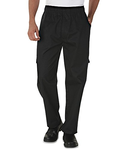 Men's Cargo Chef Pant (XS-4X, Black) (Large) (Style Chef Pants)