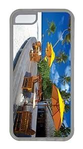 silicone cover Beach Restaurant TPU Transparent Case for iphone 5C