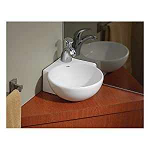 Cheviot 1349 Wh 1 White Corner Wall Mount Vessel Sink 12 3