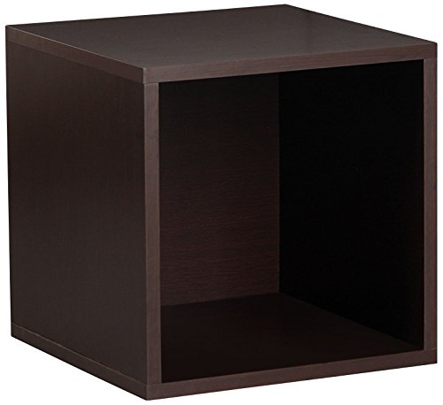 Foremost 327609 Modular Open Cube for Modular Storage System, Vinyl Storage, Bookcase, Espresso ()