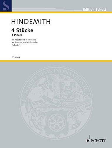 Stucke(4) (Allemand) Partition – 1 janvier 2000 Paul Hindemith Schott 0001064797 Musique