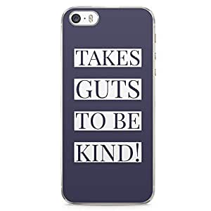 iPhone 5S Transparent Edge Phone case Gut To Be Kind Phone Case Purple Phone Case Kind iPhone 5 Case with Transparent Frame