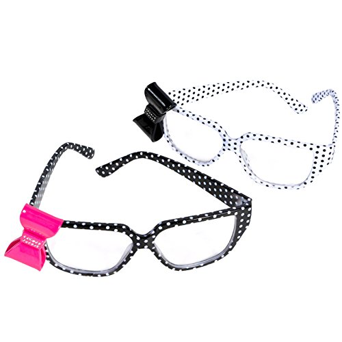 Polk-A-Dot Nerd Glasses With - Bow With Glasses Nerd