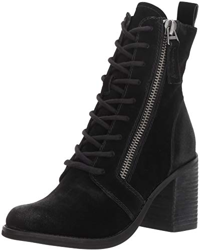 Dolce Vita Women's LELA Ankle Boot, Black Suede, 9 M US (Dolce Vita Boots)