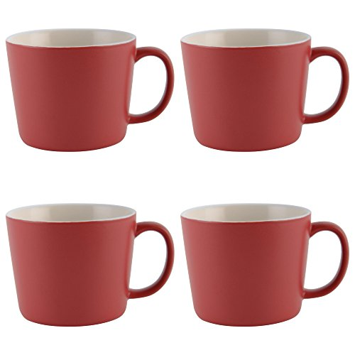 La Cafetière Barcelona Ceramic Espresso Cups, 100 ml - Red (Set of 4)
