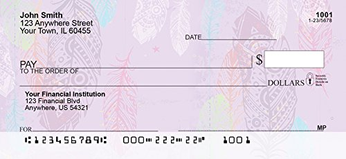 Painted Feathers Personal Checks (1 Box Singles)