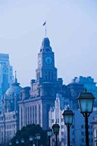 Panoramic Images – Buildings in a city The Bund Shanghai China Photo Print (60,96 x 91,44 cm)