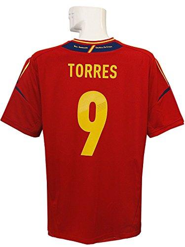 (アディダス) adidas 12 13スペイン代表 ホーム 半袖 トーレス 2012-07-01 EURO2012決勝イタリア戦 マッチデープリント ZU355-X10937 B015SZG9KQ XL