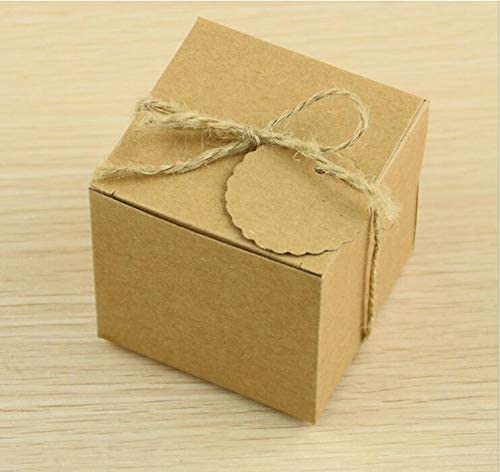 Estilo Europeo Boda Bolsa de azúcar Retro Papel Kraft Caja de ...