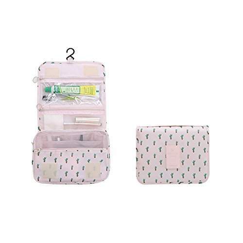 Toiletry bag Cosmetic with Hanging Hook Carry Handle Multifunction Waterproof for Travel and Bathroom Storage