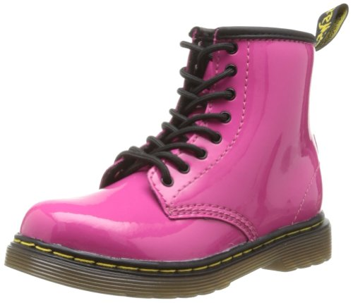 Dr. Martens Brooklee Boot (Toddler),Hot Pink Patent Lamper,9