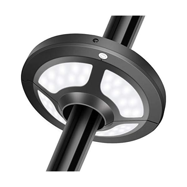 Lampada per Ombrellone, Jirvyuk Luci per Ombrellone con 36 LEDs, 2 Livello Dimmerabili per Giardino, Spiaggia, Campeggio… 1 spesavip