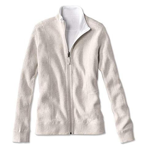 - Orvis Women's Signature Softest Reversible Zip-Front Jacket, Oatmeal/White, Small