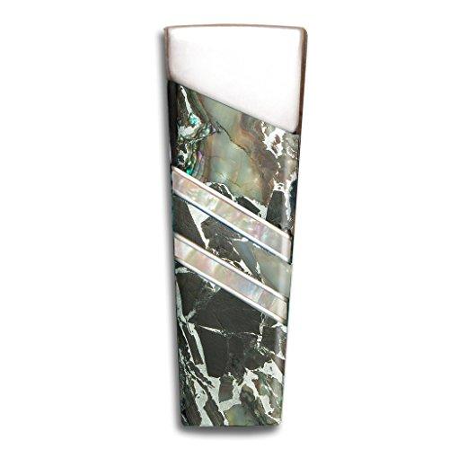 Santa Fe Stoneworks Gemstone Exotics Limited Edition Money Clip, Obsidian/Abalone/Zinc