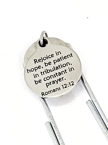 (Planner Bookmark, Christian Planner Bookmark, Rejoice In Hope Bookmark, Romans 12 12 Bible Verse, Planner Accessories, Planner Charm)