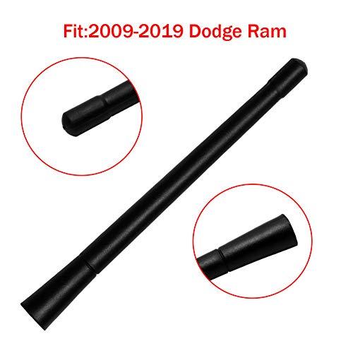 "Black 7"" for 2009-2018 Dodge RAM Truck Van Pickup 1500 2500 3500 4500 5500 Rubber Replacement Short Whip Antenna Mast"