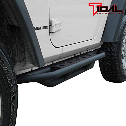 Tidal Running Board Steel Armor Side Step for 07-18 Jeep Wrangler JK 2Door