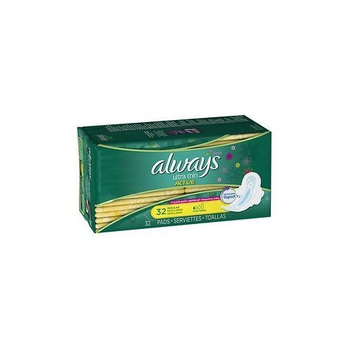 Amazon.com: Always Fresh Ultra Thin Active Pads, Regular with Flexi-Wings, Clean Scent 32 ea: Health & Personal Care