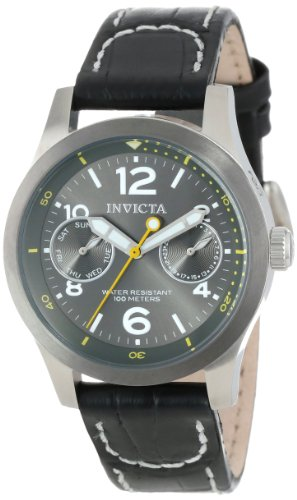 Invicta Women's 14144 I-Force Charcoal Grey Dial Black Leather Watch