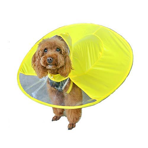 kubao Fashion Pet Rainy Days Raincoat Dog Rain Poncho Waterproof Cloak Umbrella All-Inclusive Pet Poncho
