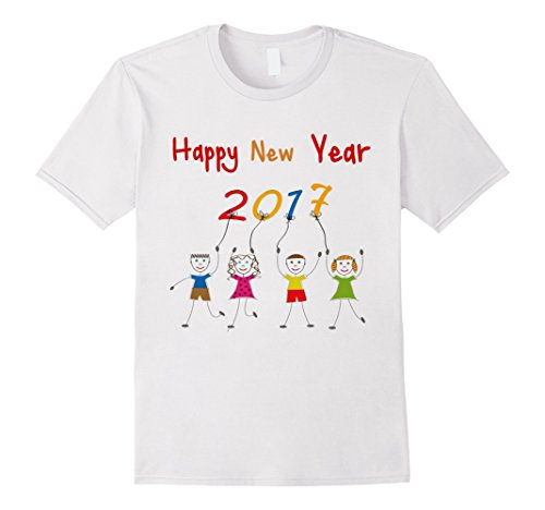 Men's Happy new year happy 2017 t-shirt Medium White