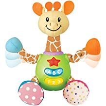 KiddoLab Charmie The Giraffe Baby Learning Toy Plush Snuggle Body Featuring Simple Fun Phrases, Sounds Melodies Ages 3 Months+ Toddler Learning Toy Light Up Buttons