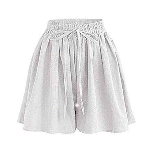 Gooket Women's Summer Drawstring Wide Leg Chiffon Shorts High Waist Culottes Shorts