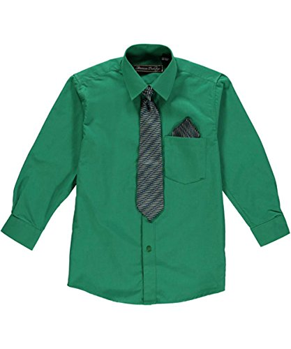 American exchange big boys 39 dress shirt set emerald Emerald green mens dress shirt