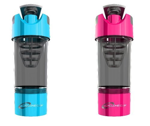 Cyclone Cup Shaker Bottle 20oz - Set of 2 - Light Blue and Pink