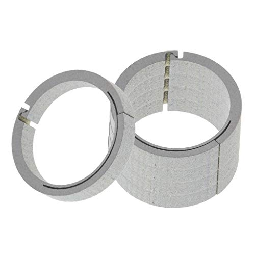 (SM SunniMix 5pcs Titanium Round Carabiner Camping Push Open Gate Spring Snap Clip Hook Keychain Keyring - Silver, 18mm)