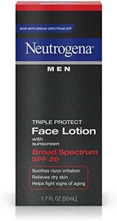 Neutrogena Men Triple Protect Face Lotion Broad Spectrum SPF 20, 1.7 Fl. Oz