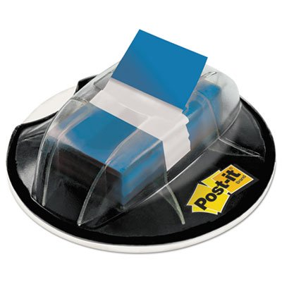 Page Flags in Desk Grip Dispenser, 1 x 1 3/4, Blue, 200/Dispenser, Sold as 200 Each by Post-it