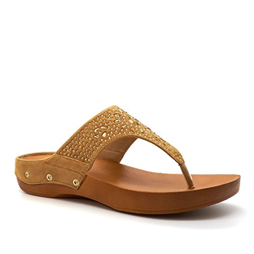 Retro Aperto London Footwear Donna Camel 6UxHY8