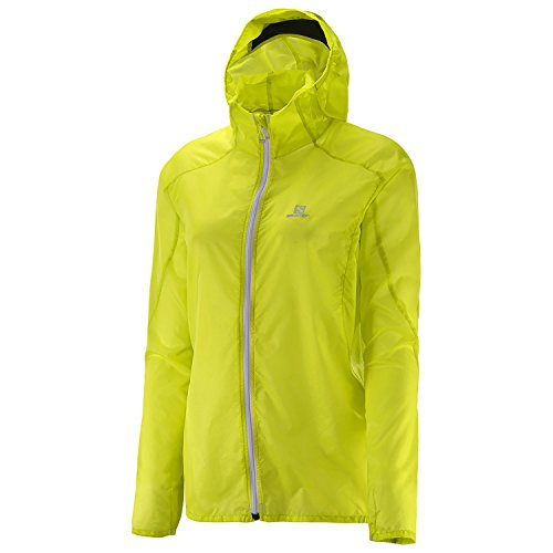 Salomon Women's Fast Wing Hoodie, Yuzu Yellow, Medium