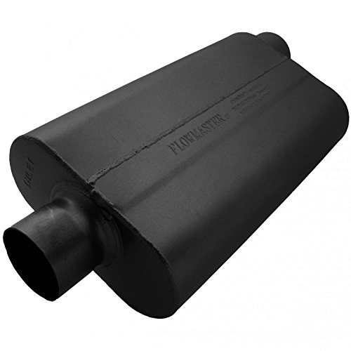 (Flowmaster 943052 50 Delta Flow Muffler - 3.00 Center IN / 3.00 Offset OUT - Moderate Sound)