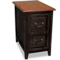 Leick Favorite Finds Shaker Cabinet End Table, Slate Black