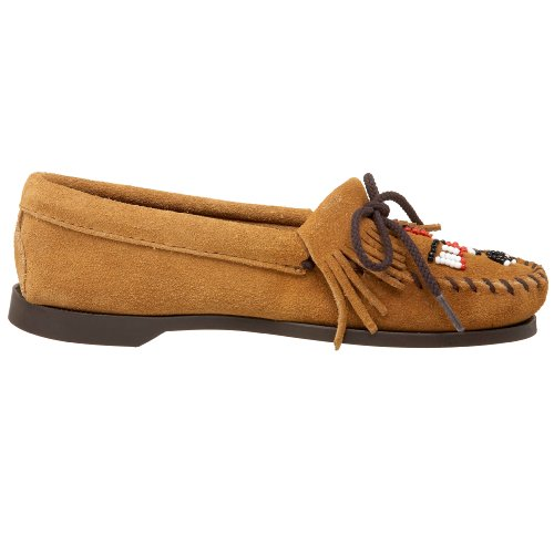 Boat Beige Minnetonka 165 de Suede Sole Mocasines para mujer ante Thunderbird qS6TpxwO