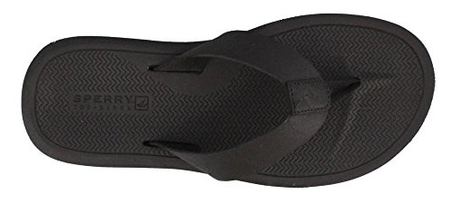 Sperry Mens, Pensacola Thong Sandal Black 9 M