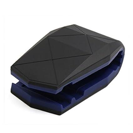 eDealMax Universal Azul Negro cocodrilo Boca del hipopótamo la Forma del coche del teléfono Clips GPS