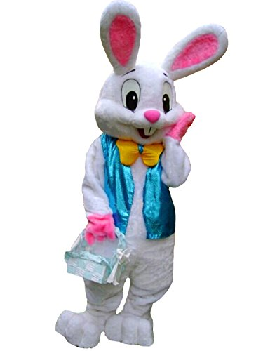 ZYZB Deluxe Plush Easter Bunny Mascot Costume Bunny Costume (L (181 cm-190 cm)- 5'11'' to 6'3'')