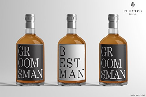 Vogue Best man & Groomsman Gifts - Bachelor Party Supplies & Favors - 8 bottle label stickers