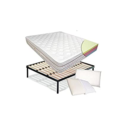 Kit – Colchón Dual Comfort de Memory Foam – de Lurex Roma + Red a láminas