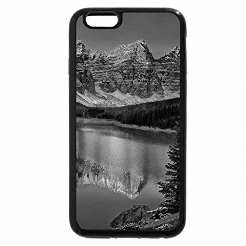 iPhone 6S Plus Case, iPhone 6 Plus Case (Black & White) - Valley of the Ten Peak