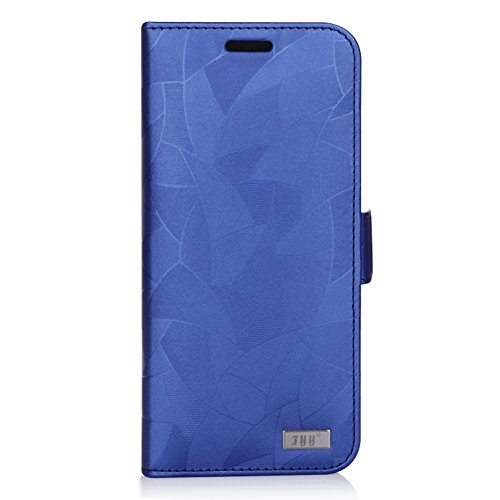 FYY [Premium Leather] Wallet Case for Samsung Galaxy S8+ Plus 2017, Handmade Flip Folio Wallet Case with Kickstand Card Slots Magnetic Closure for Samsung Galaxy S8+ Plus 2017 MapleBlue