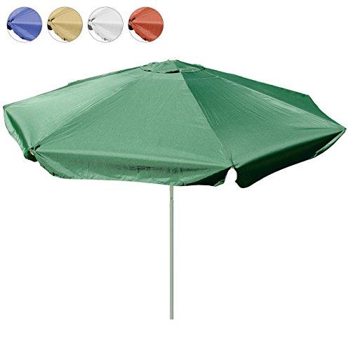 Sonnenschirm 4m mit Kurbel Alu Gestell Sonnenschutz Gartenschirm (Grün), Polyester 160 g/m² Gewicht 10kg